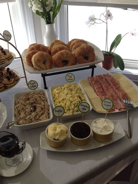 Croissant bar!! Great baby shower brunch idea.   Baby