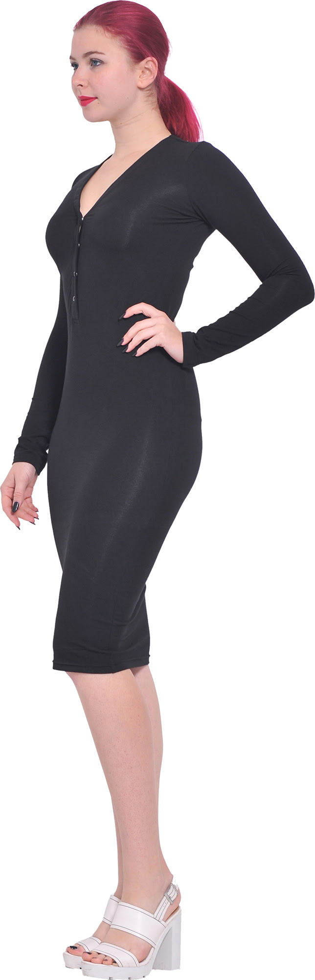Bodycon long dress length sleeve knee shoulder surgery penney