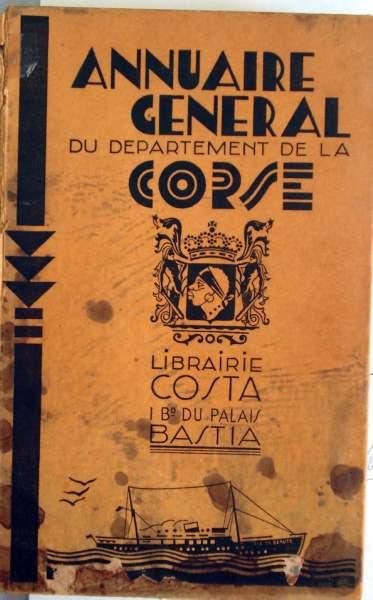 Annuaire général de la Corse (1938), Aullène et Monacia