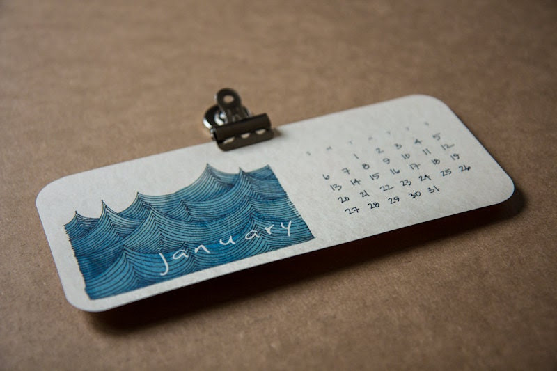 2013 magnetic calendar from Red Umbrella Designs