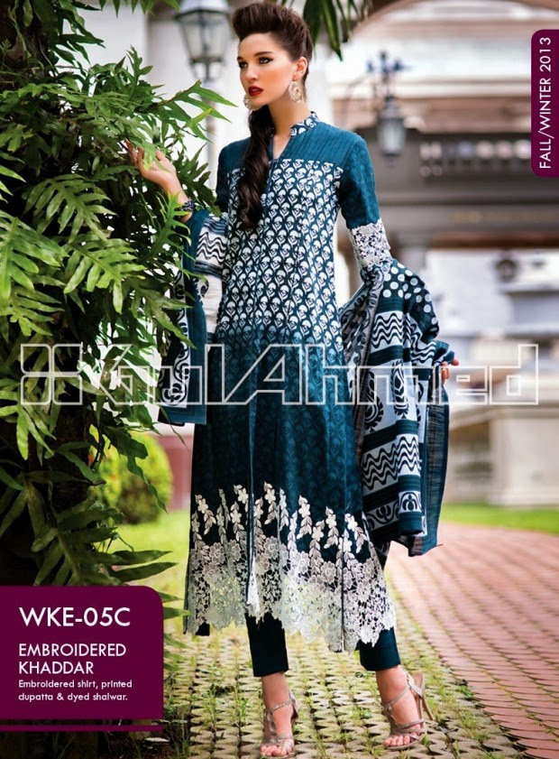 Beautiful-Cute-Girls-New-Fashionable-Dress-Design-by-Gul-Ahmed-Fall-Winter-Collection-2013-14-6