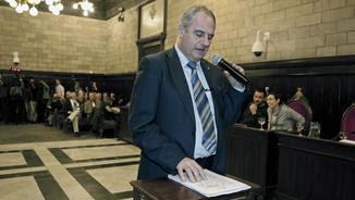L'alcalde de Girona, Albert Ballesta, promet el càrrec (Towsend/EFE)