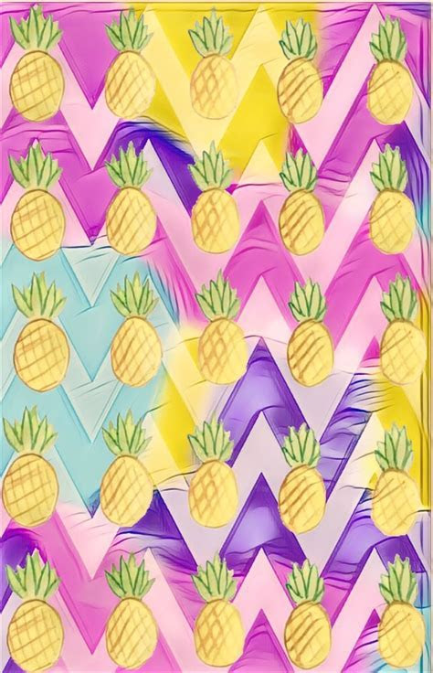 Cute girly pattern pineapples by Rose   Iphone Wallpapers
