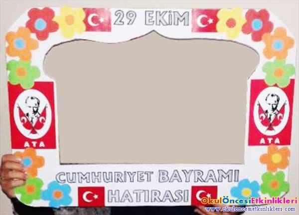 29 Ekim Cumhuriyet Bayramı Hatırası çerçevesi Okul öncesi