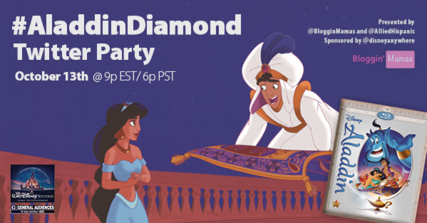Aladdin Twitter Party 10-13-15 at 9p EST #AladdinDiamond http://bit.ly/AladdinDiamondRSVP