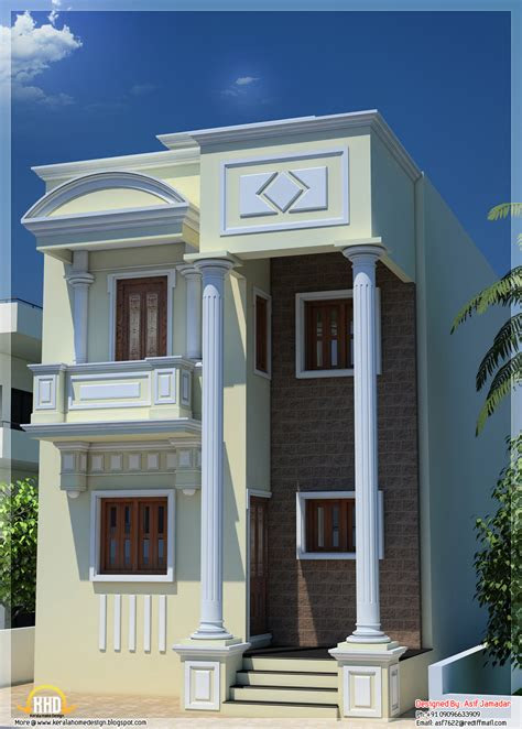 sq ft narrow house design  india kerala home