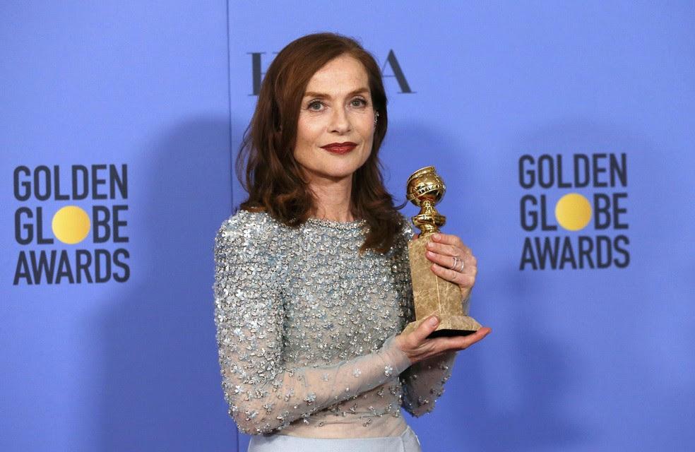 Isabelle Hupper ganhou o Globo de Ouro de melhor atriz em filme de drama por 'Elle' (Foto: Mario Anzuoni/Reuters)