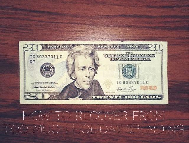 How To Recover from Too Much Holiday Spending.