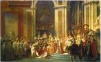 Coronación de Napoleón. Pintura de David. Ampliar imagen