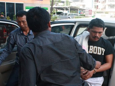 The arrested group arrive on Phuket today for questioning