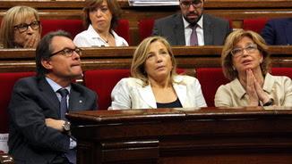 Mas, Ortega i Rigau al Parlament