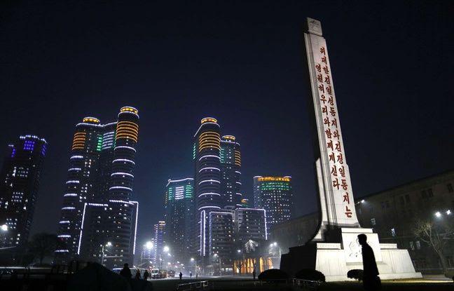 Le centre de Pyongyang, en Corée du nord.