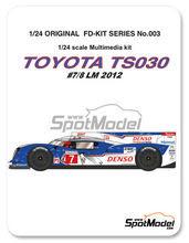 Maqueta de coche 1/24 Studio27 - Toyota TS030 Hybrid Denso - Nº 7, 8 - 24 Horas de Le Mans 2012 - kit multimaterial