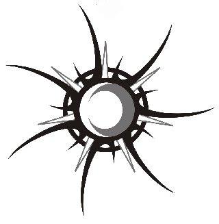 Cool Tribal Star Sun Moon Tattoo Design Skeches Tribal Tattoos