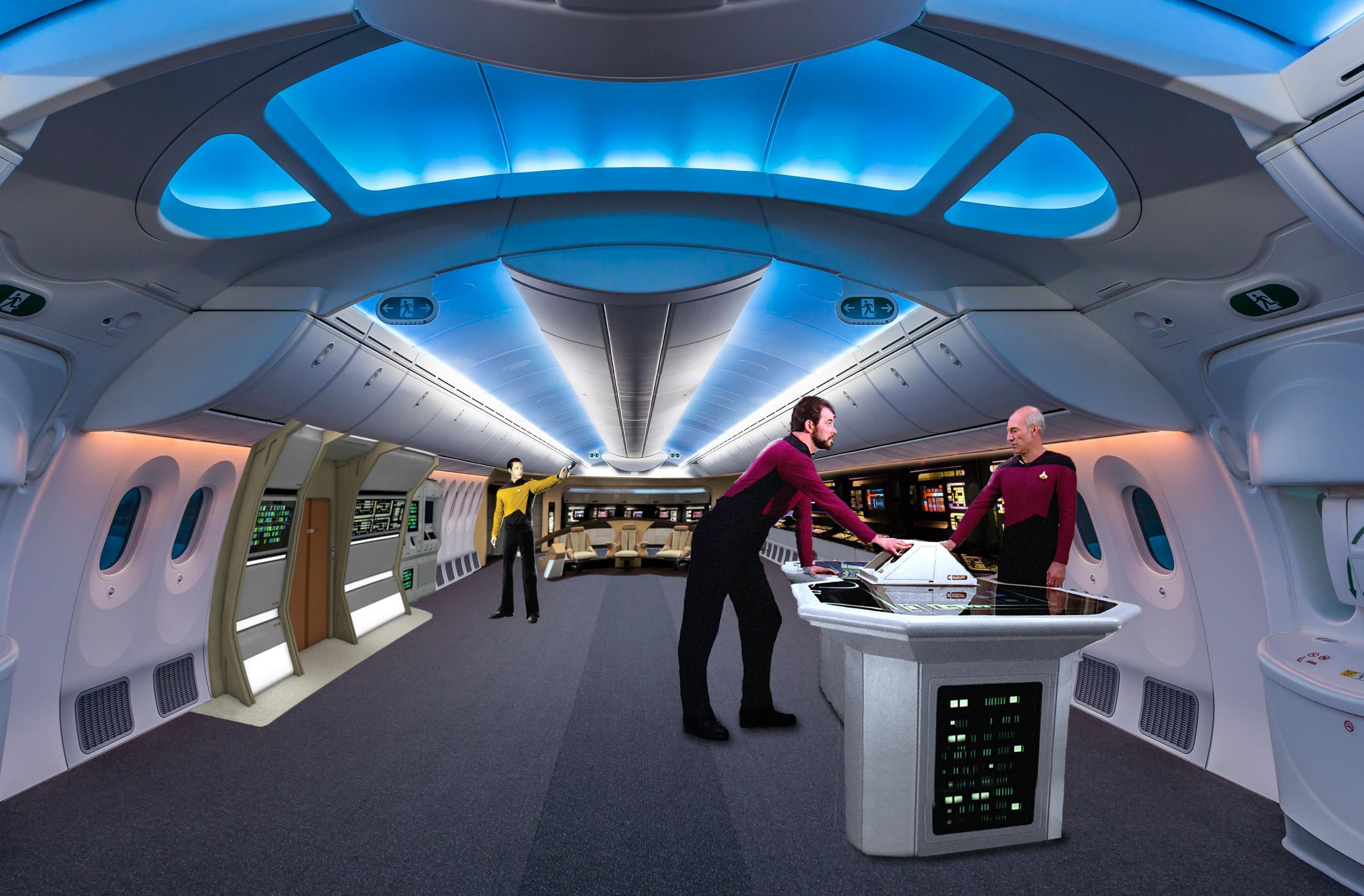 star wars in empty plane