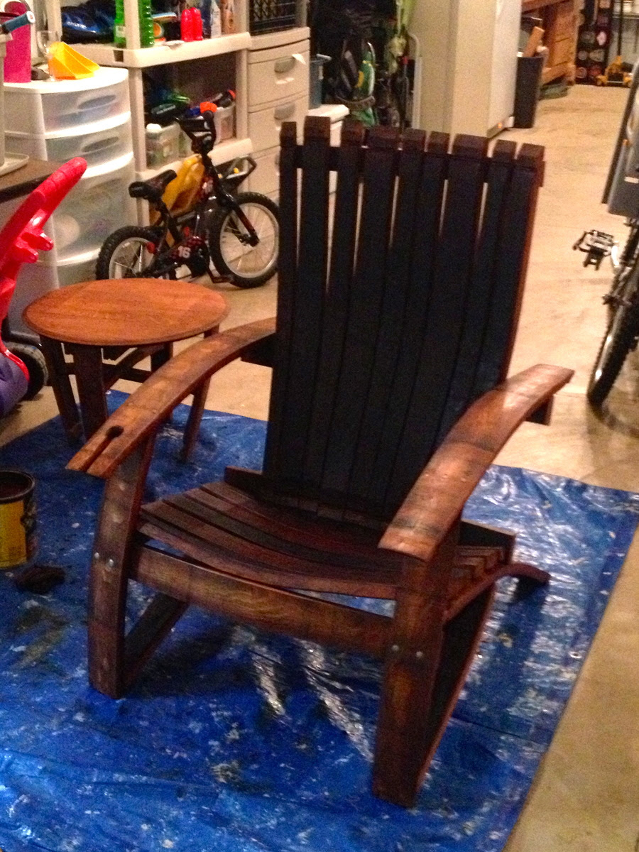 Ana White Wine Oak Barrel Adirondack Chair Diy Projects