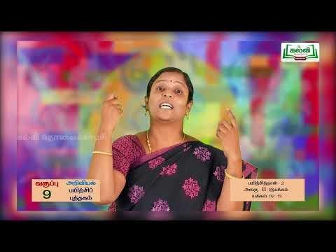 9th Science இயக்கம் அலகு 2 Kalvi TV