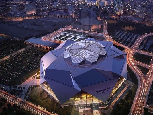 New Mercedes-Benz Stadium. The only logo in Atlanta to be ...