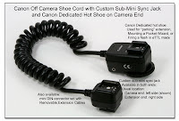 OC1021: Canon OCC with Aux Sync Jacks and Dedicated Hot Shoe on Camera End