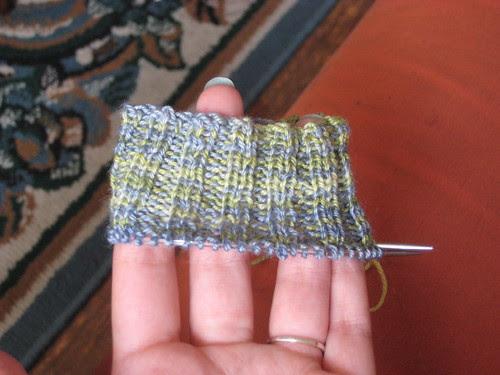 Sunday's Work on Fingerless Gloves