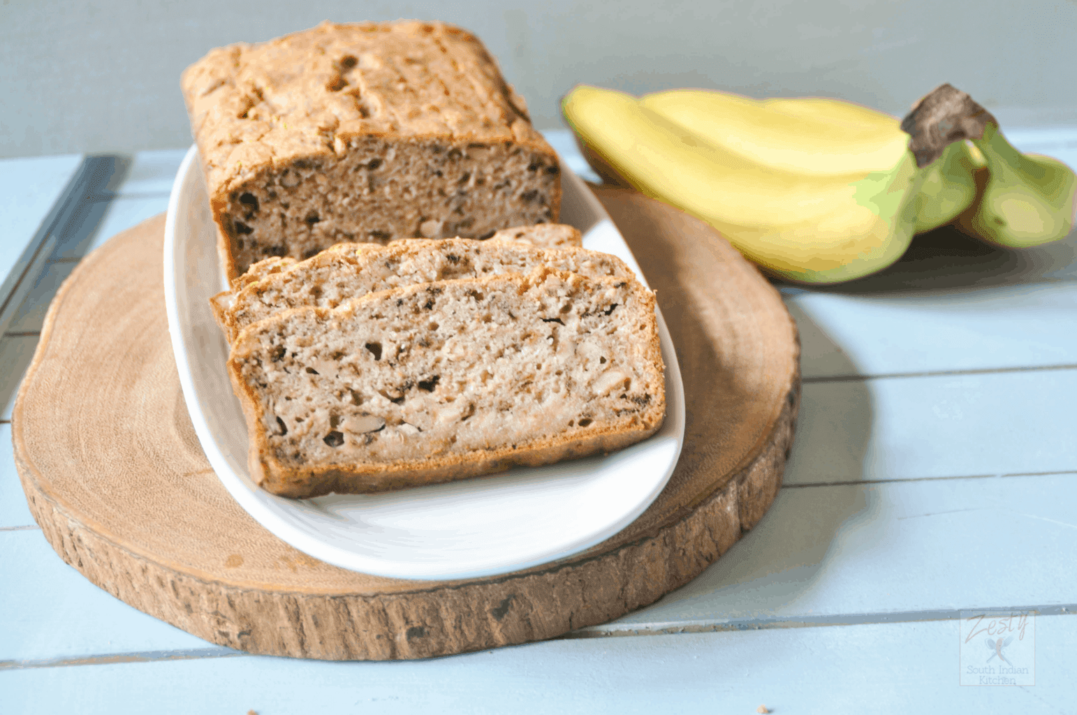 No sugar added banana bread - Zesty South Indian Kitchen
