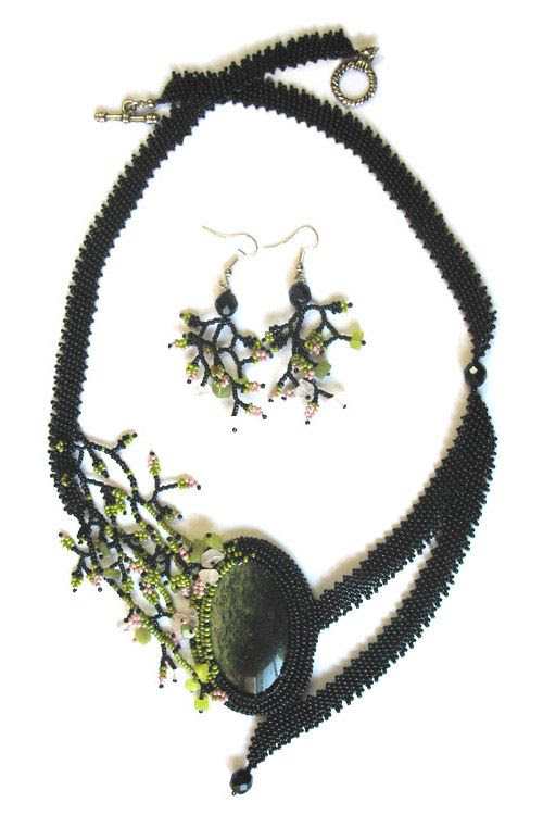 Delicate beaded jewelry by Larisa Berenstein