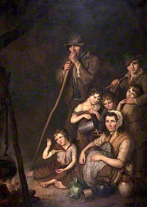 Ιρλανδοί μετανάστες - John Joseph Barker - 1847