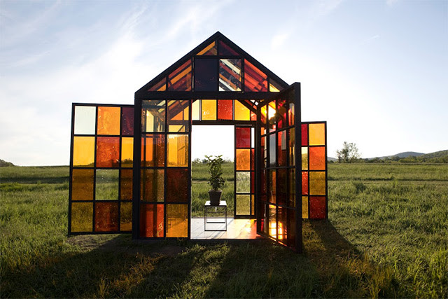 A Hilltop Solarium Made with Panels of Caramelized Sugar by William Lamson windows sugar food architecture