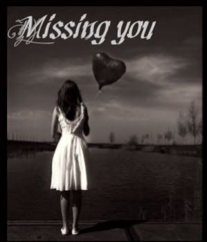 Missing You Girl With Balloon Heart Miss You Myniceprofilecom