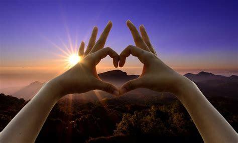 love sign hands sunset  photo  pixabay