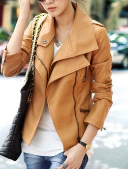 leather jacket - love the color