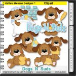 Dogs N Suds Clipart - CU