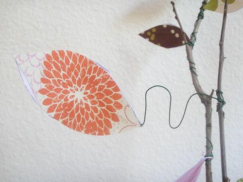 Scrapbook paper leaf