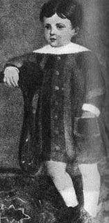Antonio Machado, niño. Retratado por su abuela Cipriana Alvarez Durán