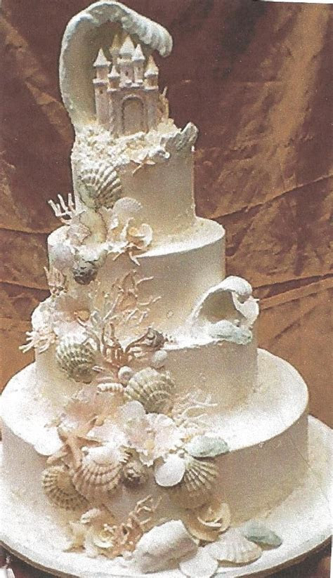 sea shell wedding cakes idea   bella wedding
