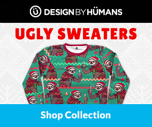 Shop ugly Christmas sweaters at DesignByHumans.com.