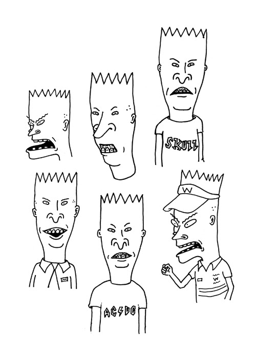 beavis and butthead, and bart