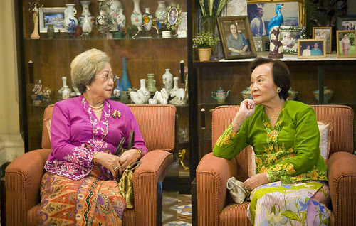 Older Baba ladies at the Hongyok house in Phuket town