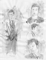 Tennant Doctor Who character studies on Ebay