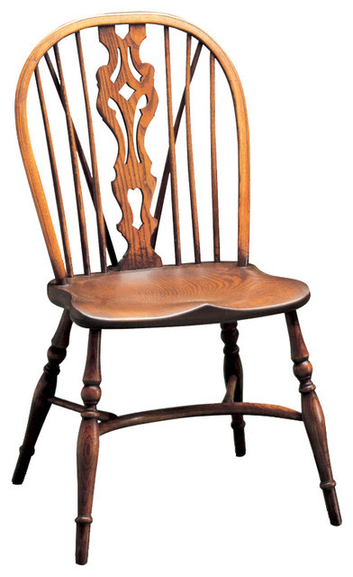 Georgian Windsor With Tail Dining Chair - traditional - dining