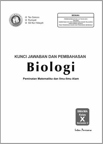 Kunci Jawaban Biologi Intan Pariwara Kelas 10 Semester 1 Guru Ilmu Sosial