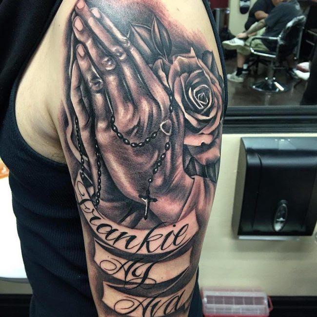 60 Praying Hands Tattoo Designs Show Devoutness And Religious Belief