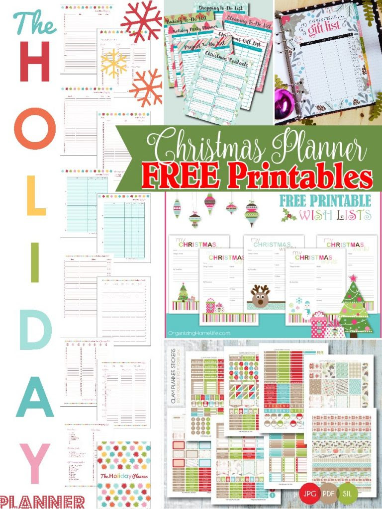 Stay organized this December with this round up of adorable and USEFUL Christmas Planner FREE Printables!