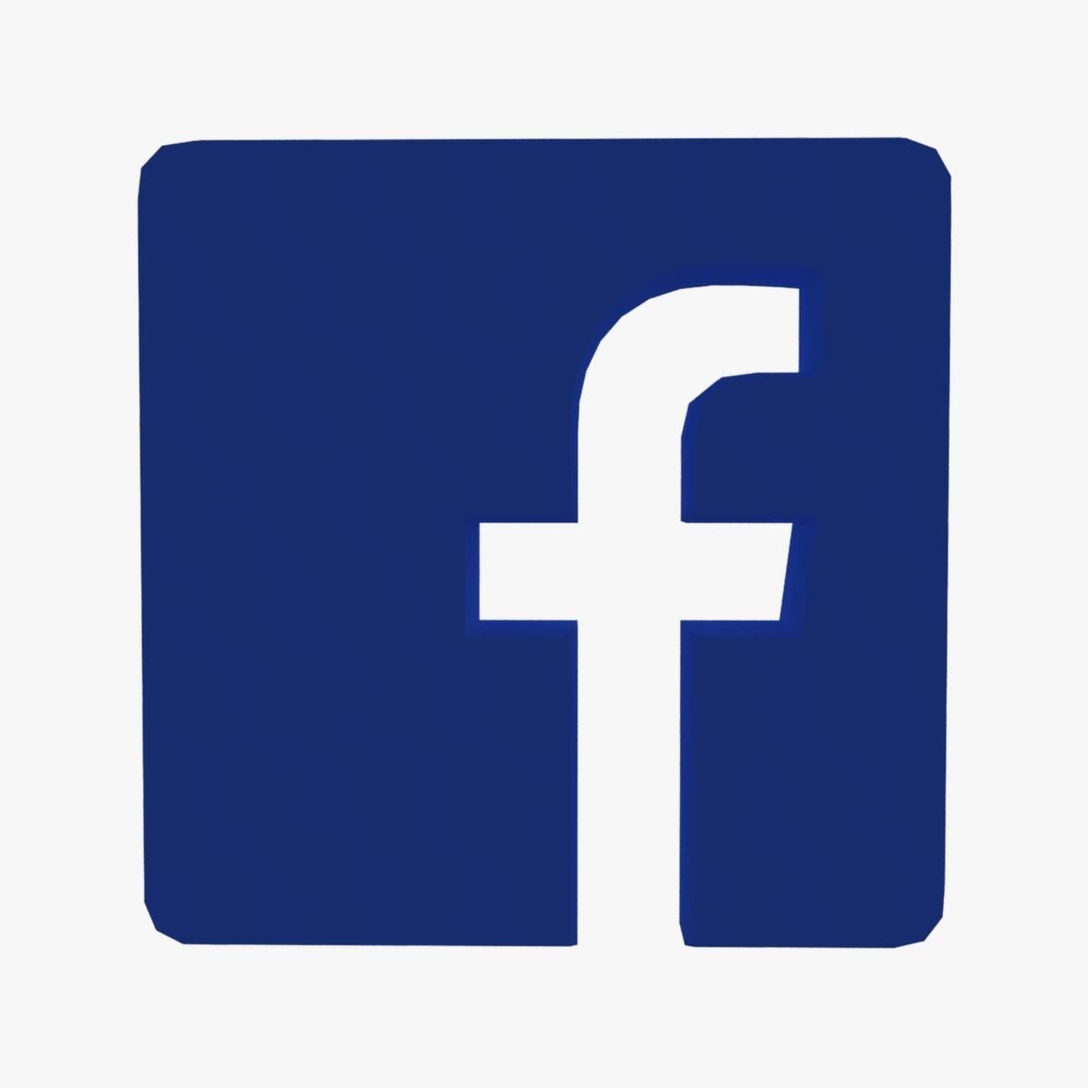 facebook logo 3d model