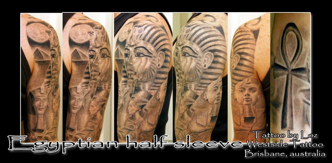 Egyptian Half Sleeve Tattoo