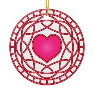 Pink Heart & Swirls Ornament ornament