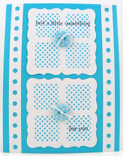SOL April Turquoise Dots Card
