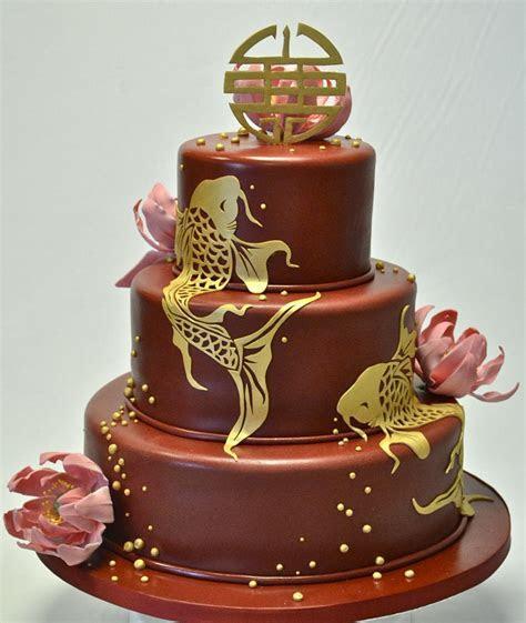 Koi Carp Wedding Cake   Wedding Cakes   Cakeology