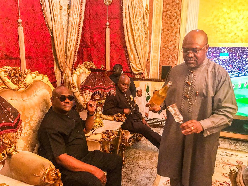 Ex-Militant, Ateke Tom Hosts Governor Wike In His Okochiri Palace (Photos)