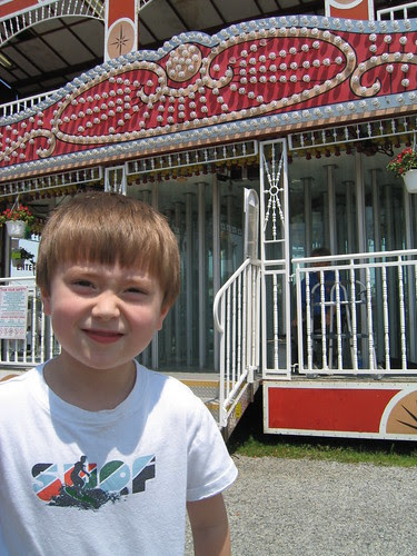 Tyler at the Glass/Mirror Fun House